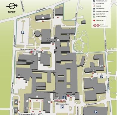 mölndals sjukhus karta Kartor över våra sjukhus   Sahlgrenska Universitetssjukhuset mölndals sjukhus karta