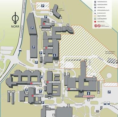 östra sjukhuset karta Kartor över våra sjukhus   Sahlgrenska Universitetssjukhuset östra sjukhuset karta