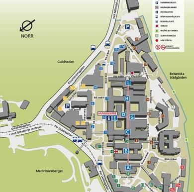 sahlgrenska karta Kartor över våra sjukhus   Sahlgrenska Universitetssjukhuset sahlgrenska karta