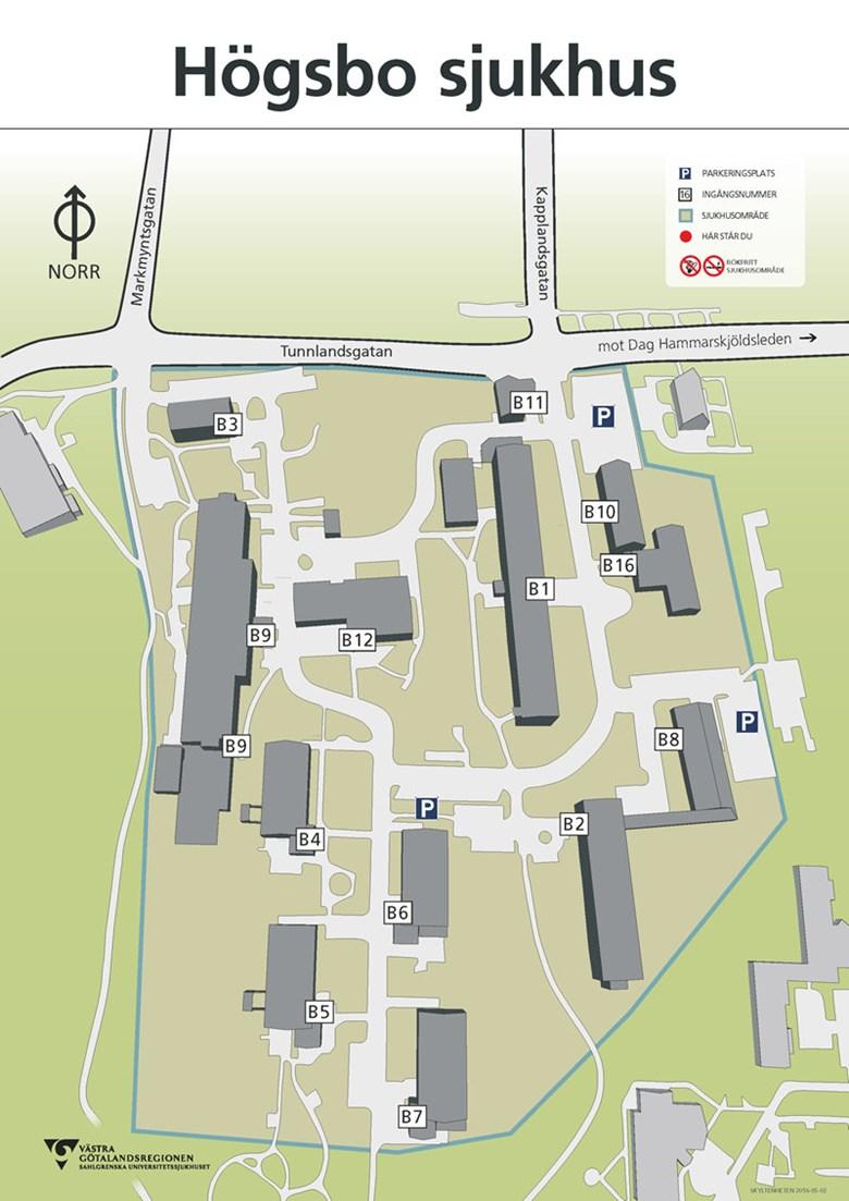 Karta Hogsbo Sjukhus Sahlgrenska Universitetssjukhuset