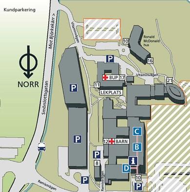 Kartor Over Vara Sjukhus Sahlgrenska Universitetssjukhuset