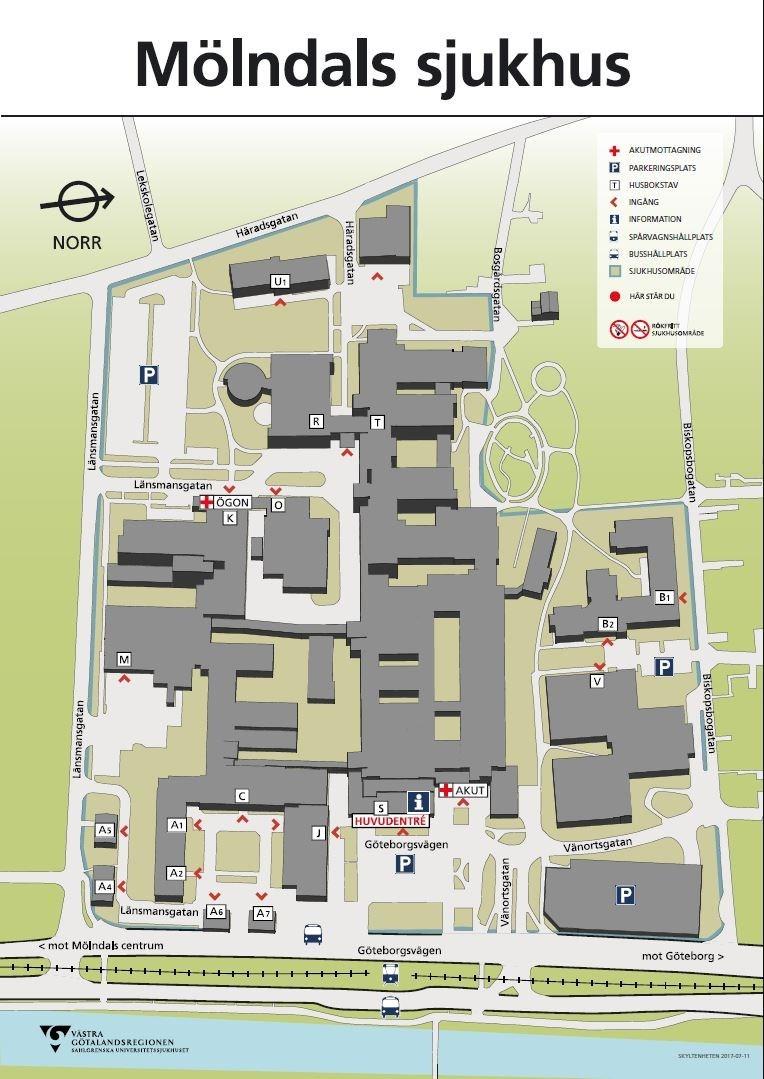 mölndals sjukhus karta Karta Mölndals sjukhus   Sahlgrenska Universitetssjukhuset mölndals sjukhus karta